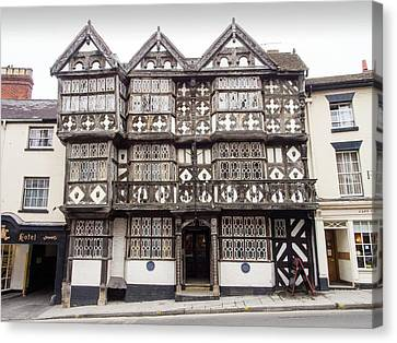 The Feathers Hotel In Ludlow Canvas Print