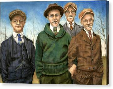 The Fellas Canvas Print by Leah Wiedemer