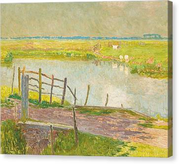 The Fence May, The Lys, 1902 Oil On Canvas Canvas Print