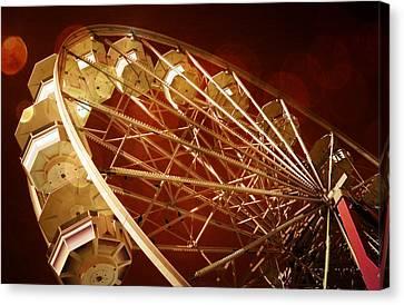 Beach Theme Decorating Canvas Print - The Ferris Wheel by Bob Pardue