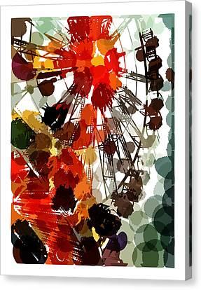 The Ferris Wheel Canvas Print by Mark Compton