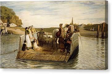 The Ferry Canvas Print by Robert Walker Macbeth