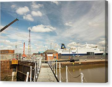 The Ferry Terminal In Hull Canvas Print by Ashley Cooper