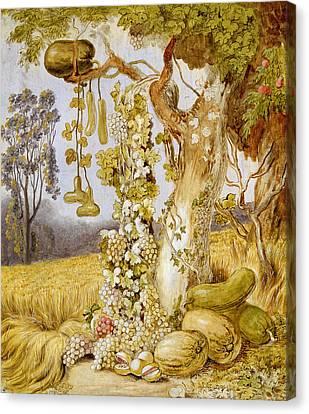 The Fertility Of The Earth Canvas Print by Johann Heinrich Wilhelm Tischbein