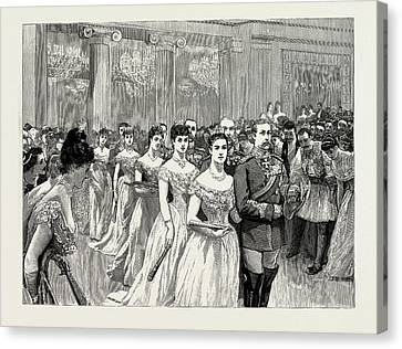 The Festivities At Athens In Honour Of The Greek Royal Canvas Print by Litz Collection