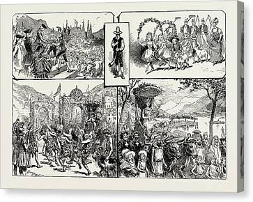 The Fete Des Vignerons, Vevey, Switzerland Canvas Print by Litz Collection