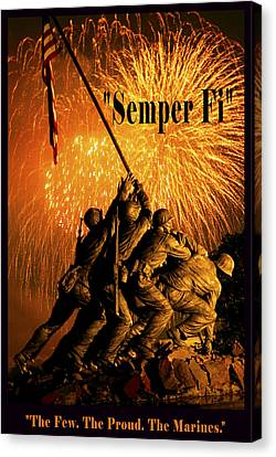 The Few The Proud The Marines Canvas Print by Government Photographer
