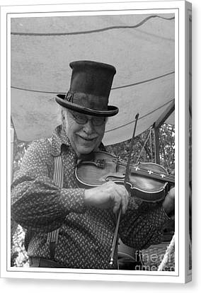 The Fiddler Canvas Print by Sara  Raber