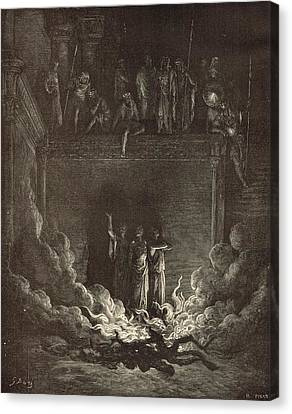 The Fiery Furnace Canvas Print by Antique Engravings