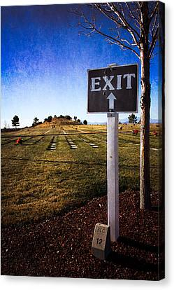 Canvas Print featuring the photograph The Final Exit by Dave Garner