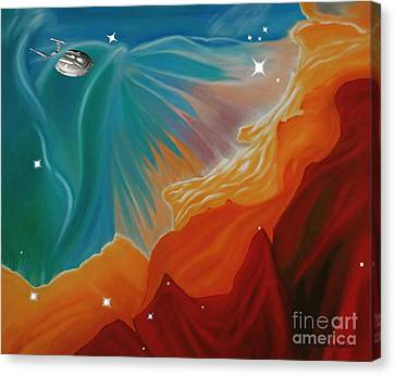 The Final Frontier Canvas Print by Barbara McMahon