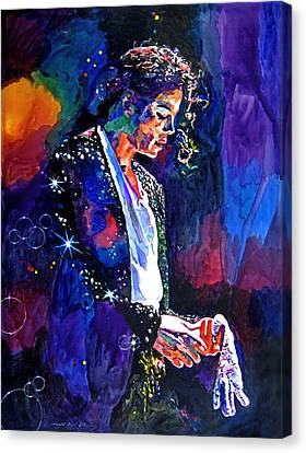 The Final Performance - Michael Jackson Canvas Print by David Lloyd Glover