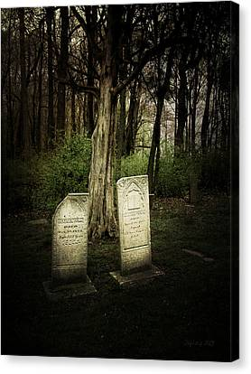 The Final Resting Place Of Ambros And Brazilla Ivins Canvas Print by Cynthia Lassiter