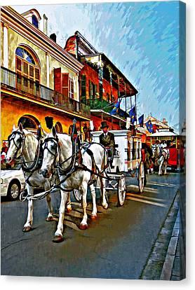 The Final Ride Painted Canvas Print by Steve Harrington