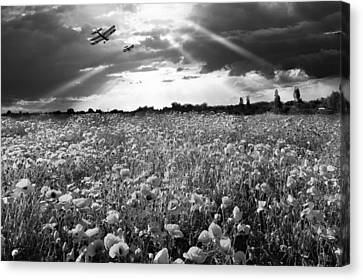 The Final Sortie Wwi Black And White Version Canvas Print by Gary Eason