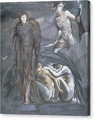 Gorgon Canvas Print - The Finding Of Medusa, C.1876 by Sir Edward Coley Burne-Jones