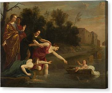Canvas Print featuring the painting The Finding Of Moses   by Jacques Stella