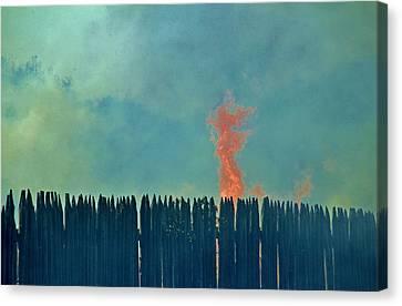 The Fire Canvas Print by Cynthia Guinn