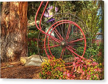 Canvas Print featuring the photograph The Fire Hose Reel by Thom Zehrfeld