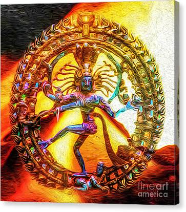 The Fire Of Shiva Canvas Print by Tarik Eltawil