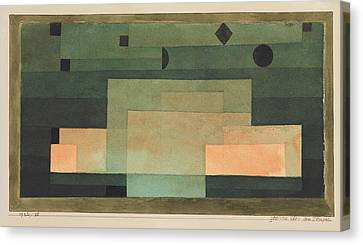 The Firmament Above The Temple Canvas Print by Paul Klee