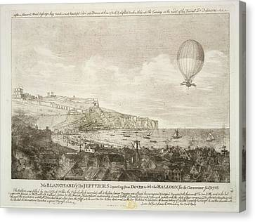The First Airbourne English Channel Cross Canvas Print by British Library