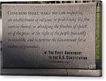 The First Amendment Canvas Print by Gayle Johnson