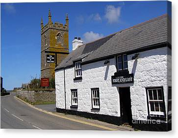 The First And Last Inn In England Canvas Print by Terri Waters