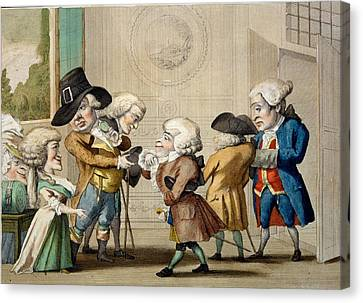 The First Approach, C.1790 Canvas Print