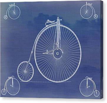 The First Bicycle Penny-farthing Canvas Print by Dan Sproul