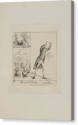 Trial Canvas Print - The First Charge - Exit In Fumo by British Library