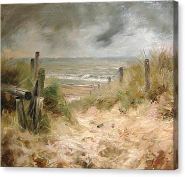 Rain Barrel Canvas Print - The Answer Is Blowin' In The Wind by Volodymyr Klemazov