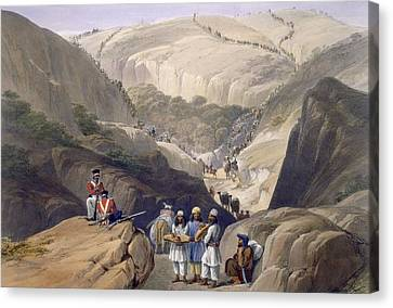 Mountain Canvas Print - The First Descent Through The Koojah by James Atkinson