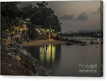 The First Evening Light Reflections Canvas Print