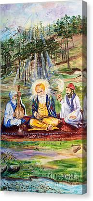 Sikh Art Canvas Print - The First Guru by Sarabjit Singh