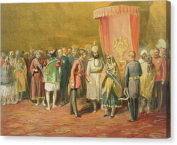 The First Investiture Of The Star Canvas Print by William 'Crimea' Simpson