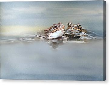 The First Kiss Canvas Print by Heike Hultsch