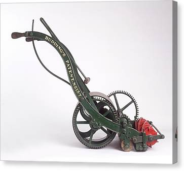 The First Lawn Mower Dating From 1830 Canvas Print by Dorling Kindersley/uig