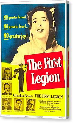 1950s Poster Art Canvas Print - The First Legion, Us Poster, Barbara by Everett
