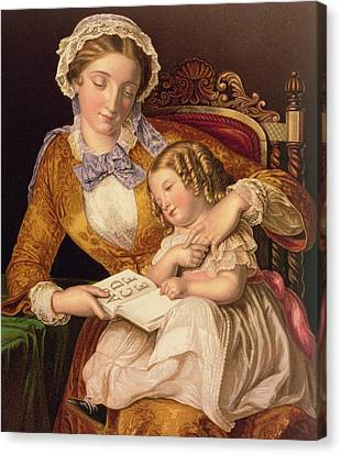 Schooling Canvas Print - The First Lesson by Samuel Baruch Halle