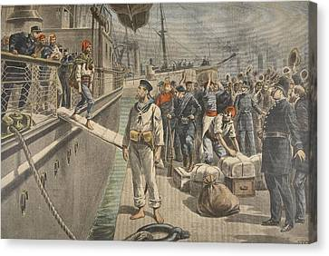 The First Prisoners At Key West Canvas Print by French School
