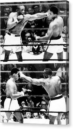 The First Sonny Liston Vs. Cassius Clay Canvas Print by Everett