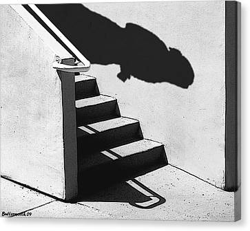 The First Step Canvas Print by Larry Butterworth