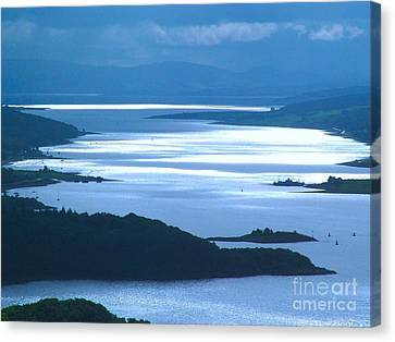 The Firth Of Clyde Canvas Print by Joan-Violet Stretch