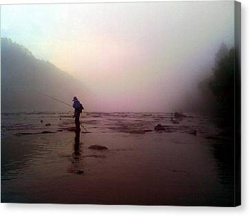 Canvas Print - The Fisherman by Dwayne Gresham