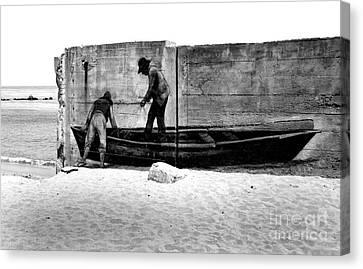 The Fishermen And The Sea... Canvas Print by Chiara Corsaro