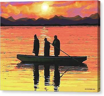 The Fishermen Canvas Print