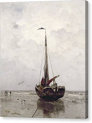 The Fishing Boat Canvas Print by Jacob H Maris