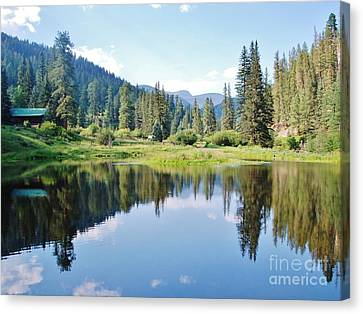 Canvas Print featuring the photograph The Fishing Hole by William Wyckoff