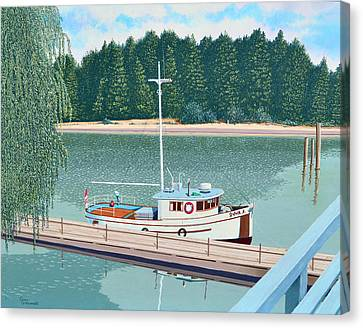 Trawler Canvas Print - The Converted Fishing Trawler Gulvik by Gary Giacomelli